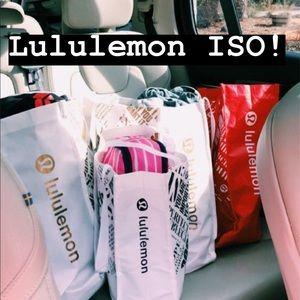 ISO LULULEMON SCUBA HOODIES